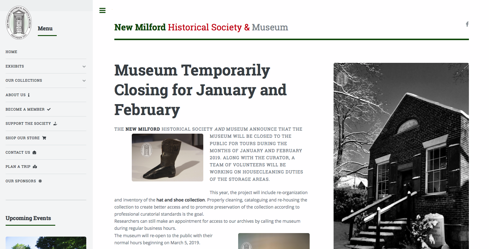 new milford historical society